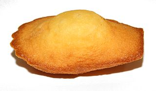 Madeleine (cake) type of cake traditional from France