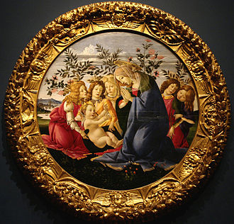 Marian devotions - Madonna and five angels, Botticelli, c. 1485