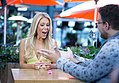 Magician Kyle Marlett performing for Real Housewife of Orange County Gretchen Wilson on Pop's Don't Blink - reaction.jpg