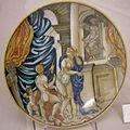 Maiolica di urbino, francesco xanto avelli, ercole e onfalo, 1530-40.jpg