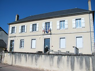 Alligny-en-Morvan - The town hall in Alligny-en-Morvan