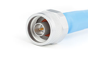 RF connector - A type N coaxial RF connector (male)