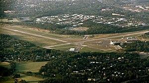 Helsinki-Malmi Airport - Image: Malmi airport aerial photo