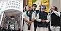 Manmohan Singh at the dedication ceremony of the Indira Paryavaran Bhawan to the Nation, in New Delhi. The Union Minister for Petroleum & Natural Gas and Environment and Forests.jpg