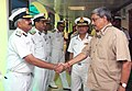 Manohar Parrikar being introduced to Senior Commanders of the Indian Coast Guard by the Director General, Coast Guard, Vice Admiral H.C.S. Bisht, during the Coast Guard Commanders' Conference, in New Delhi.jpg