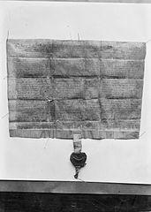 Manuscript charter for Rhuddlan town