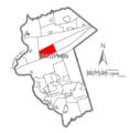 Map of Dauphin County, Pennsylvania Highlighting Wayne Township.PNG