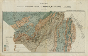 Orography - An orographic map of Eastern Siberia from 1875 by Peter Kropotkin