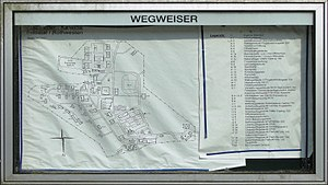 Kassel-Rothwesten Airfield - Map of the former Fritz Erler Kaserne in 2015, showing the status as of April 2002