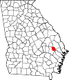 Map of Georgia highlighting Evans County.svg