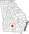 Map of Georgia highlighting Tift County.svg
