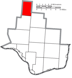 Location of Washington Township in Lawrence County