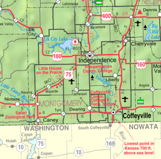 Caney, Kansas City in Kansas, United States