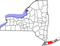 Map of New York highlighting Suffok County Police District.png