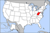 Map of USA highlighting West Virginia.png