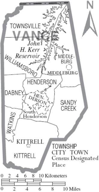 Vance County, North Carolina - Map of Vance County, North Carolina With Municipal and Township Labels