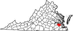 Map of Virginia highlighting Surry County.svg