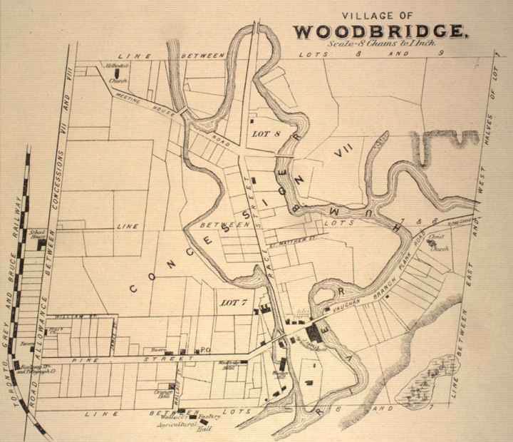 Map of Woodbridge, Ontario, 1878