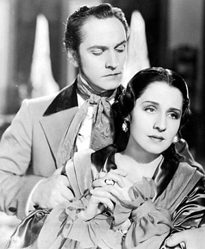 The Barretts of Wimpole Street (1934 film) - Film still with Norma Shearer and Fredric March.
