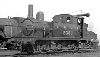 GER Class T18 - No. 8387 at March Locomotive Depot 17 July 1946.