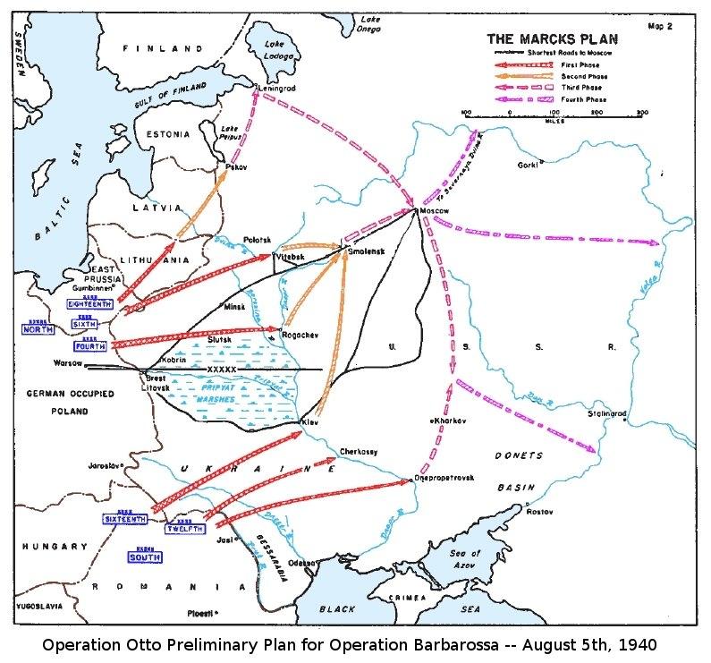 Marcks Plan for Operation Barbarossa