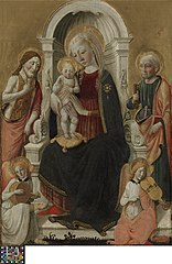 The Virgin and Child with Saint John the Baptist, Saint Peter and  two Angels Making Music