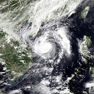 1990 Pacific typhoon season - Image: Marian may 17 1990 0623Z