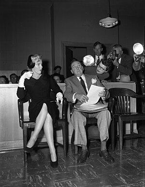 Jerry Giesler - With Marilyn Monroe in her 1954 divorce from Joe DiMaggio.