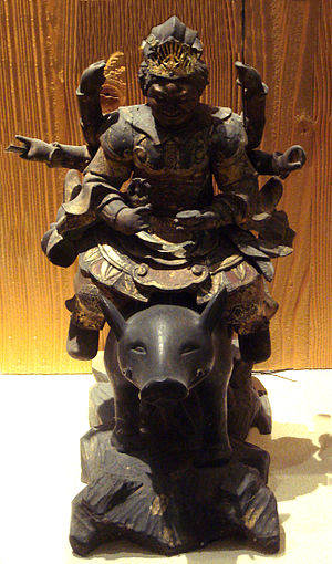 Marici (Buddhism) - Multi-armed Marici on one boar.