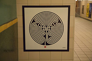 Mark Wallinger - Labyrinth 218, Cockfosters.
