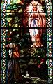 Marols - Eglise Saint-Pierre - Vitrail de l'apparition de la Vierge à Bernadette.JPG