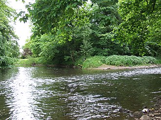 River Etherow - Destination: The Etherow enters the River Goyt, flowing from right to left