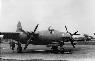 RAF Bury St Edmunds - Martin B-26B-3 Marauder 41-17973 of the 450th Bomb Squadron, 322nd Bomb Group at Bury St Edmunds (Rougham) Airfield.