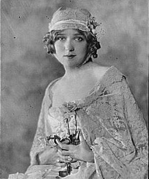 Boudoir cap - Mary Pickford wearing a boudoir cap and negligee in 1921