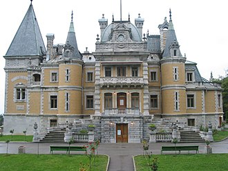 Châteauesque - Massandra Palace in Crimea, a château of Tsar Alexander III, completed in 1900