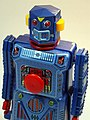 Masudaya – Tin Wind Up – Mini Target Robot (ミニ ターゲット ロボット )– Gang of Five – Close Up.jpg