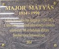 Matyas Major plaque, Cultural Center, 2016 Bonyhad.jpg