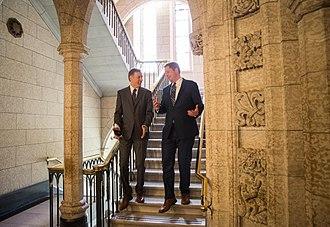 Maxime Bernier - Bernier with Andrew Scheer in Ottawa in 2017