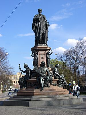 Maximilian II of Bavaria - Monument of King Max II, Maximilianstrasse in Munich