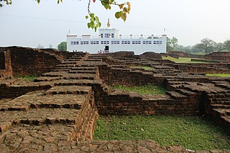 Maya Devi Temple, Lumbini - Mayadevi Temple and ruins of ancient monasteries in Lumbini