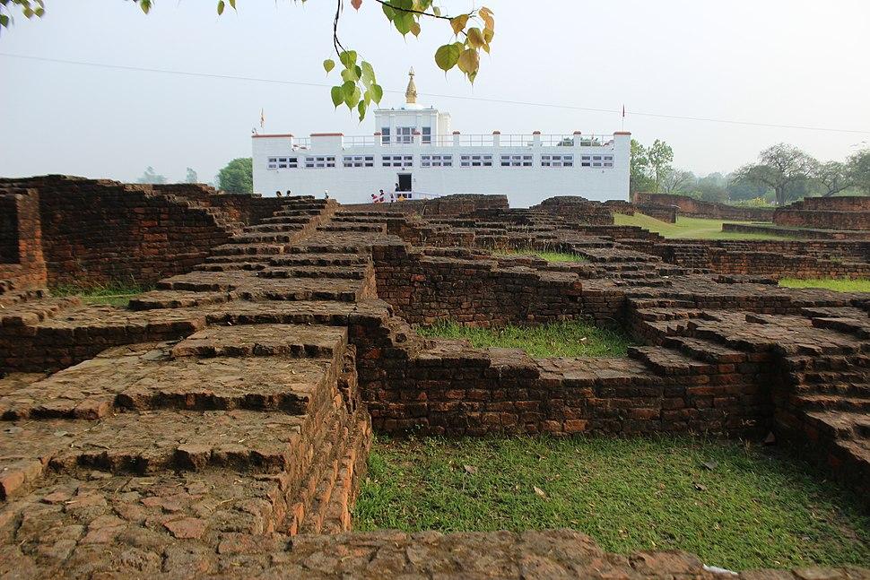 Mayadevi Temple and ruins of ancient monasteries in Lumbini 03
