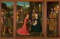 Meester van Hoogstraeten - Drieluik met de aanbidding door de drie koningen met op de gesloten luiken de Annunciatie - 0042 - Rijksmuseum Twenthe.jpg