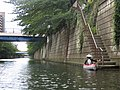 Meguro River in Meguro 1-chōme, -16 Jul. 2012 b.jpg