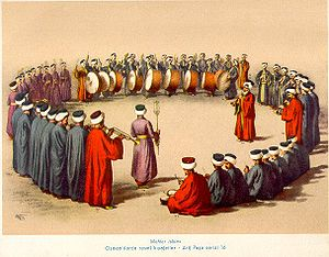 Albania under the Ottoman Empire - A gathering of Sufi mystics in Albania.