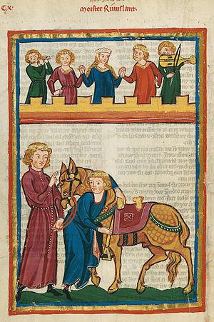 Meister Rumelant - Meister Rumslant, Codex Manesse