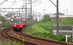Kakamigahara Line train near Haba Station