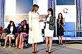 Melania Trump presents the 2017 International Women of Courage Award to Saadet Ozkan (2).jpg