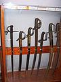 Melee weapons in Szczyrzyc monastery museum 03.JPG