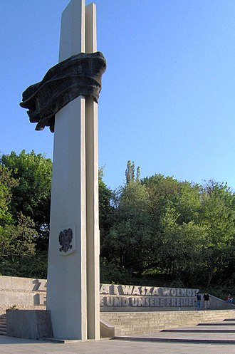 For our freedom and yours - The Memorial to Polish Soldiers and German Anti-Fascists 1939-1945 in Berlin.