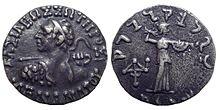 Zilveren drachme van Menander I